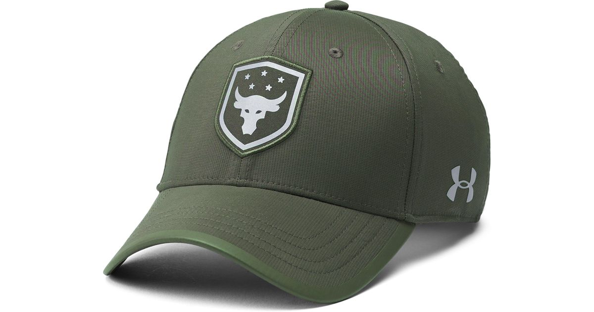 hot sale online 13dac 5c57d Under Armour Men s Ua X Project Rock Threadborne Training Cap in Green for  Men - Lyst