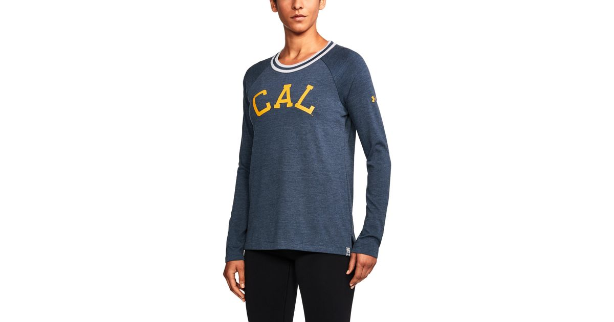 e3473a814fdf4b Lyst - Under Armour Women s Cal Bears Ua Iconic Rugby Long Sleeve in Blue