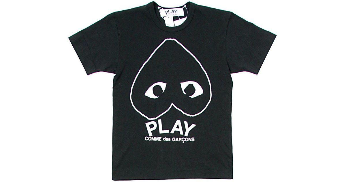 fb88a82812d0 Lyst - COMME DES GARÇONS PLAY Upside Down Outline Heart T-shirt in Black  for Men