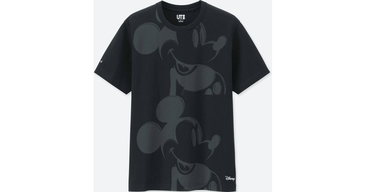 83d4e93a Lyst - Uniqlo Men Mickey Art Short-sleeve Graphic T-shirt (andy Warhol) in  Black for Men