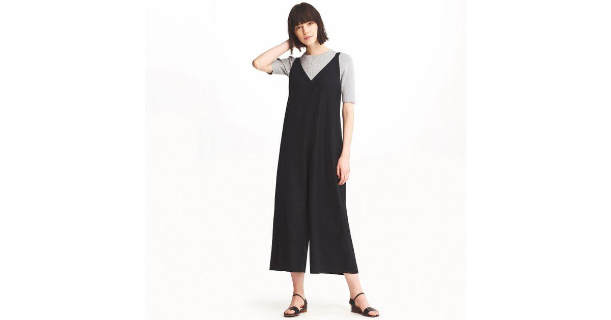 3245ae0522b7 Uniqlo - Black Linen Rayon Sleeveless Jumpsuit - Lyst