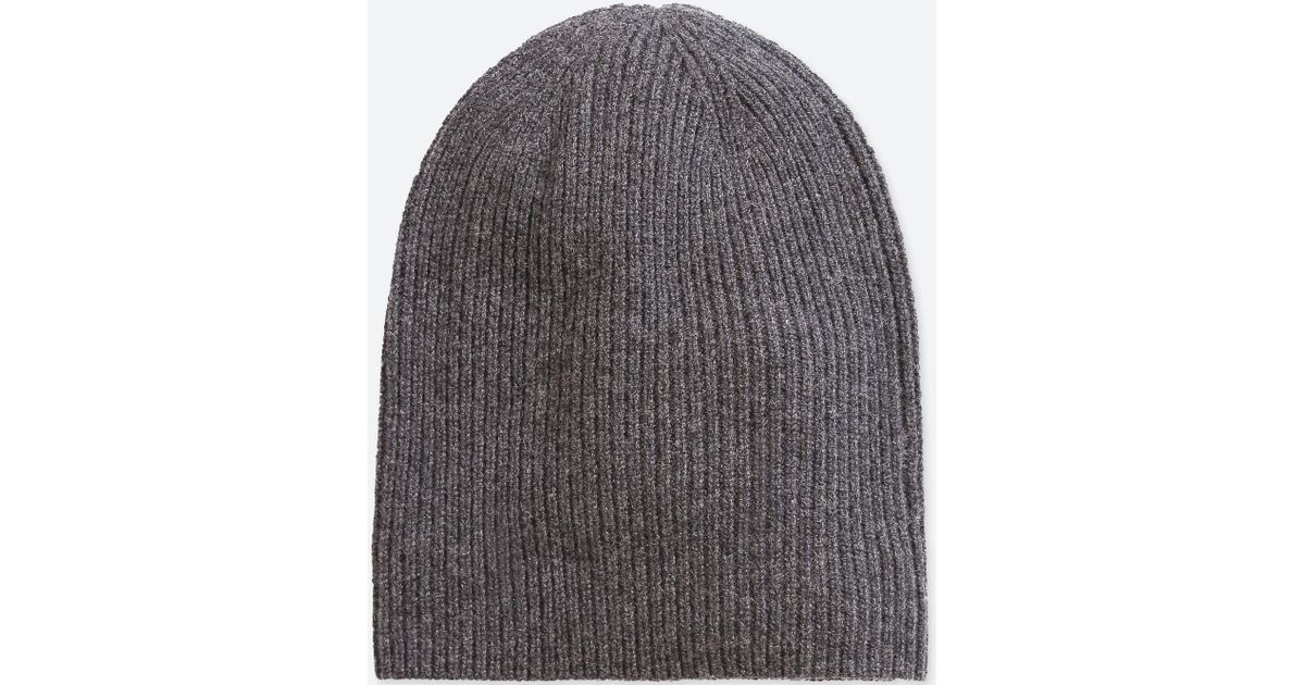 Lyst - Uniqlo Cashmere Knitted Beanie in Gray for Men 50c1de2977d9