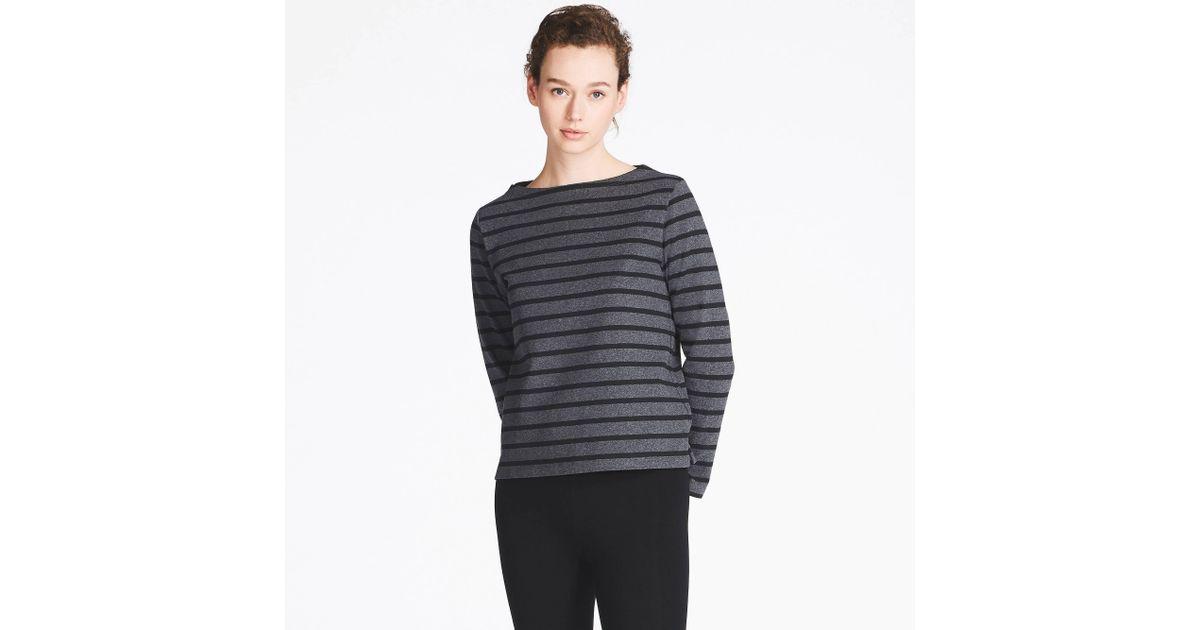674567b710090 Lyst - Uniqlo Women Striped Boat Neck Long-sleeve T-shirt