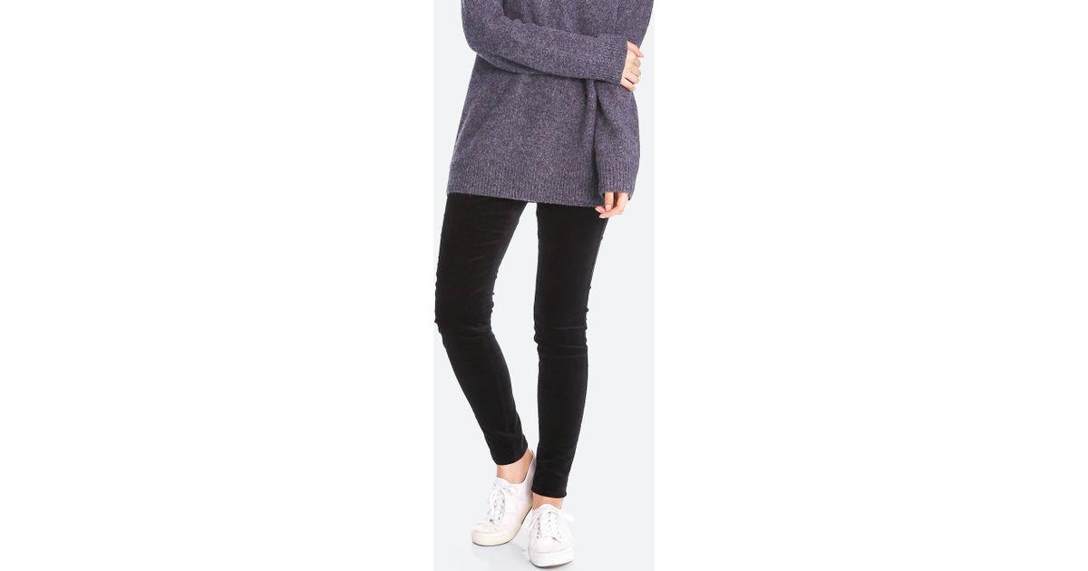 0f20a9e8b408cf Uniqlo Women Heattech High-rise Leggings Pants (velvet) in Black - Lyst