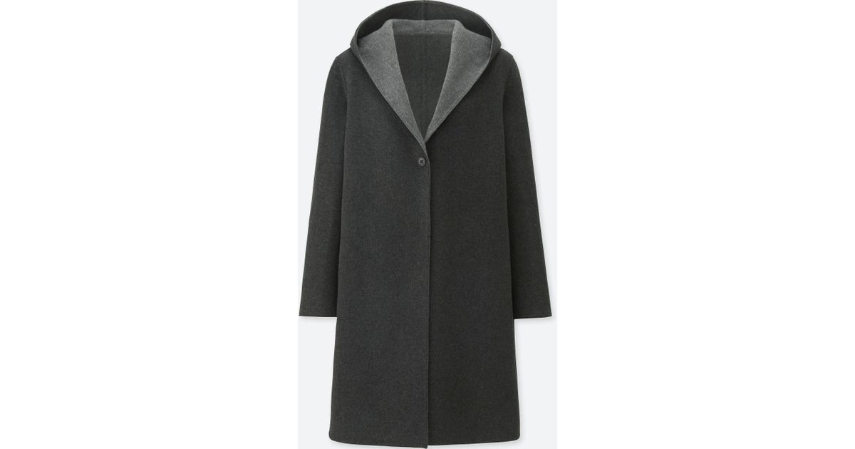 ff611acdbc6 Uniqlo Women Double-face Hooded Coat in Gray - Lyst
