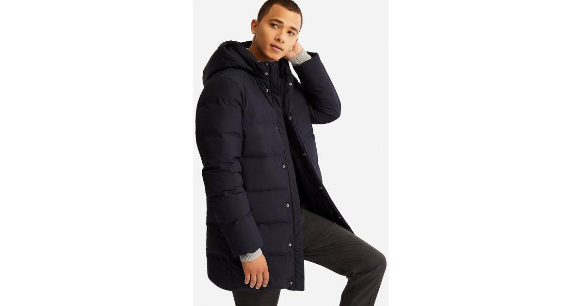 3bb7599f8 Uniqlo - Blue Men Seamless Down Coat for Men - Lyst