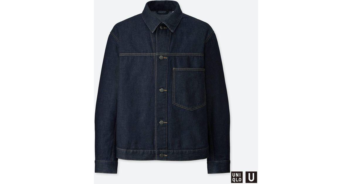70aea7e746 Lyst - Uniqlo Men U Denim Jacket in Blue for Men