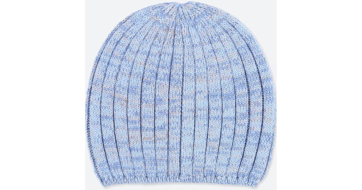 Uniqlo Heattech Knitted Beanie Hat in Blue - Lyst 21e57e91415