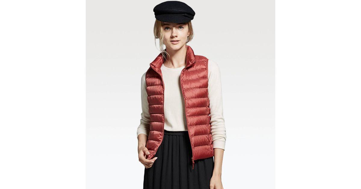 bb748eb2ef629 Uniqlo Women Ultra Light Down Vest in Pink - Lyst
