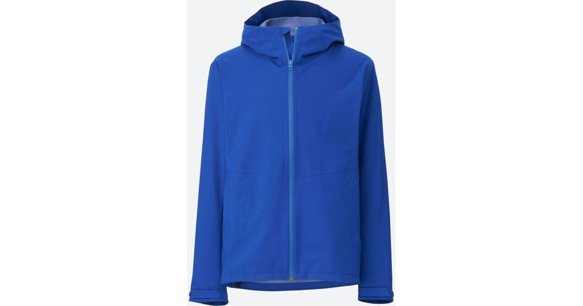 reasonably priced new york good reputation Uniqlo - Blue Men Blocktech Hooded Rain Jacket for Men - Lyst