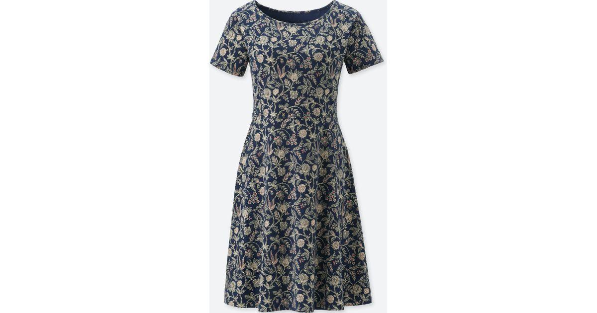 6dc667f69b Lyst - Uniqlo Women Studio Sanderson For Short-sleeve Bra Dress (online  Exclusive) in Blue