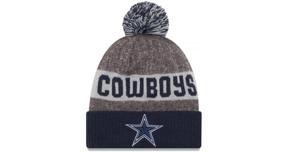 ef2bd5c15598a7 Lyst - KTZ Dallas Cowboys Nfl Sideline Bobble Hat for Men