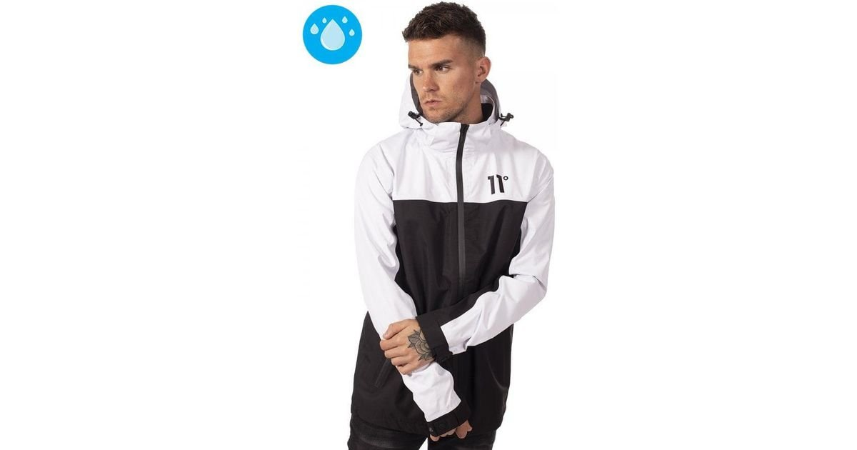 403d79f28f2 11 Degrees White   Black Aqua Jacket in White for Men - Save 2% - Lyst