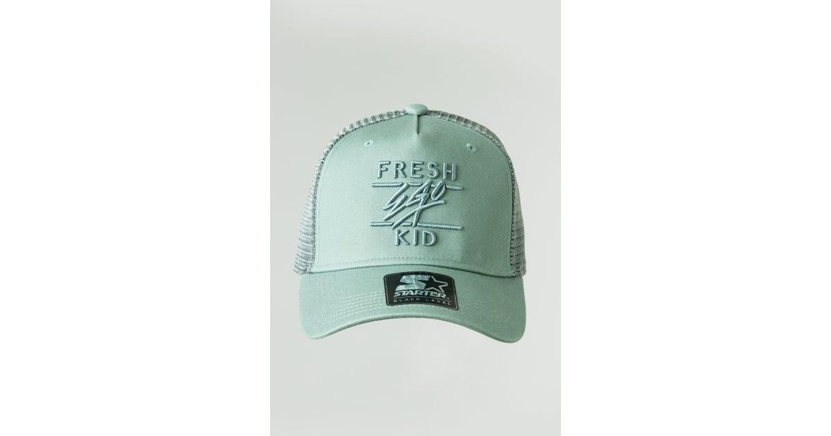 Lyst - Fresh Ego Kid Mesh Trucker Cap in Green for Men f0c720f09649