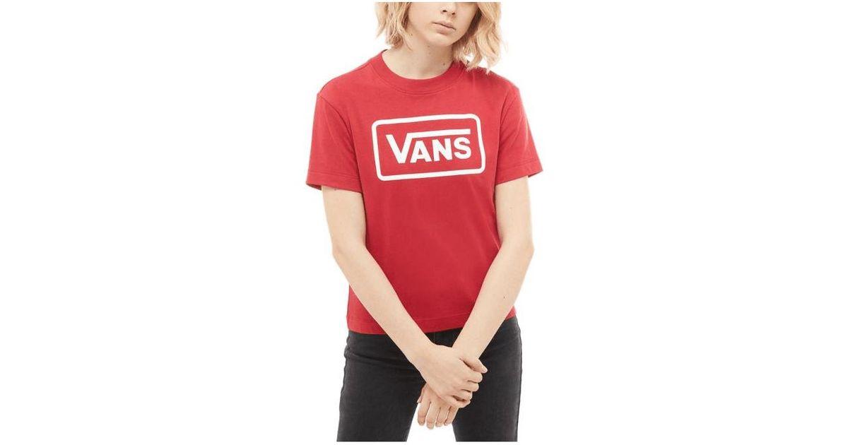 0c634d5013ca92 Lyst - Vans Women s Boom Boom Boxy T-shirt in Red