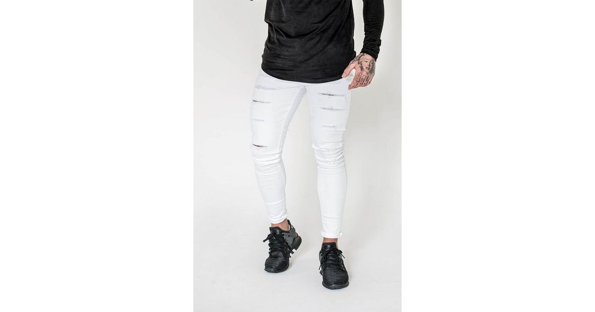 d7f9899e Lyst - Sinners Attire Ultra Ripped Jeans in White for Men