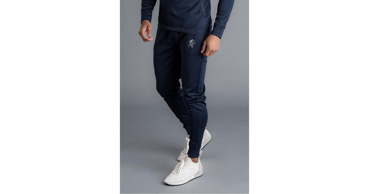 7d752e48100983 Gym King Capo Panel Poly Tracksuit Bottoms in Blue for Men - Lyst