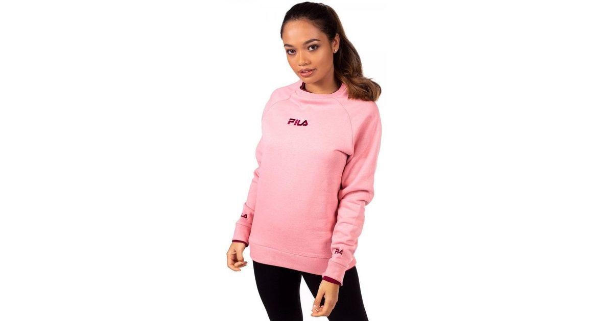 c34c14a91ae5 Lyst - Fila Women s Lorella Oversized Sweater in Pink