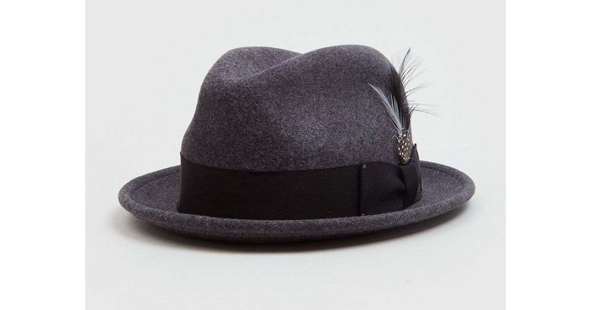 Bailey of Hollywood Bailey Tino Felt Crushable Trilby Hat (wool) in Black  for Men - Lyst 9fec44f2d48