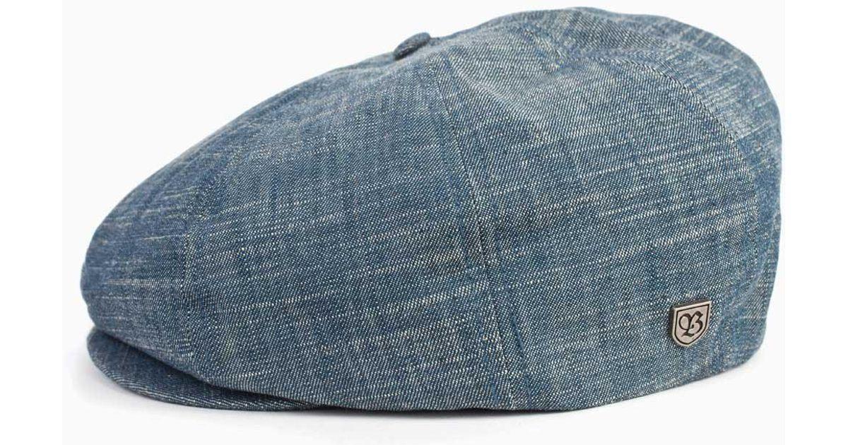 24f416516eeb0 ... spain lyst brixton brood newsboy cap in blue for men 80d94 66de0