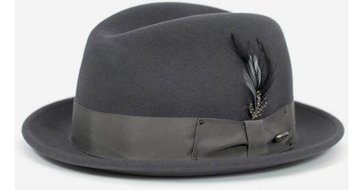 Lyst - Bailey of Hollywood Bailey Tino Felt Crushable Trilby Hat in Gray  for Men 030411e9638