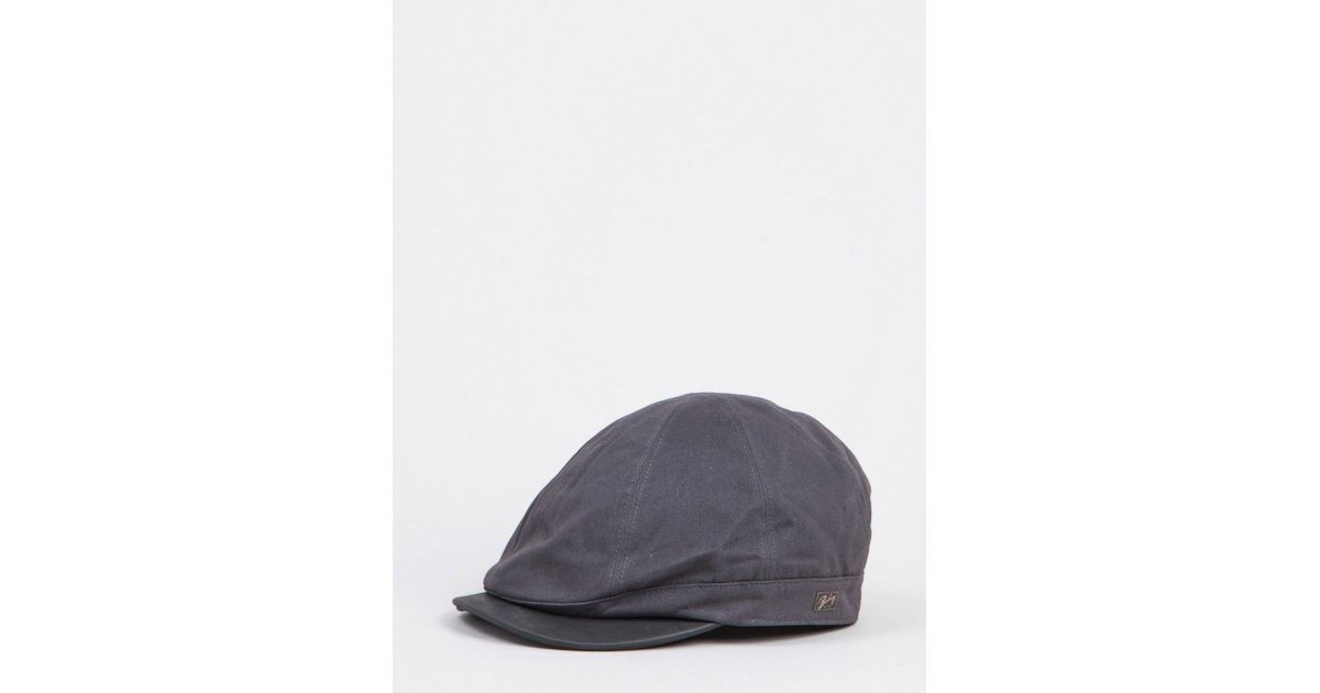 c69a066d Bailey of Hollywood Bailey Rodis Leather Peak Flat Cap in Gray for Men -  Lyst