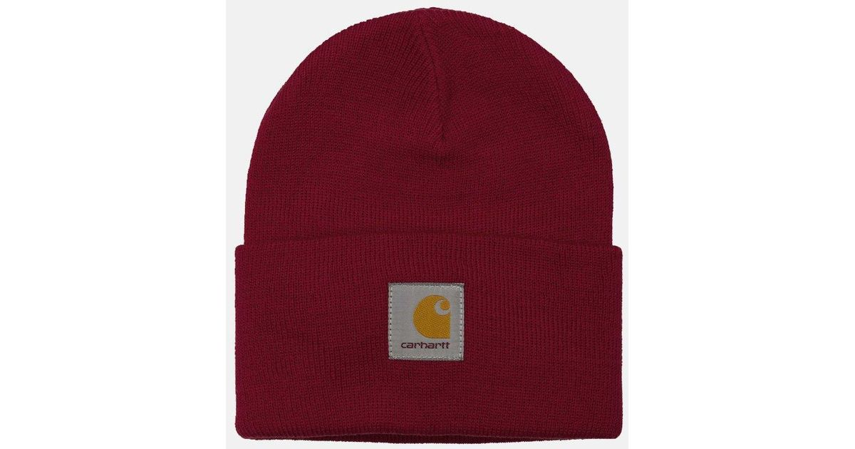 2f31273c2 Carhartt - Red Watch Cap Beanie Hat for Men - Lyst