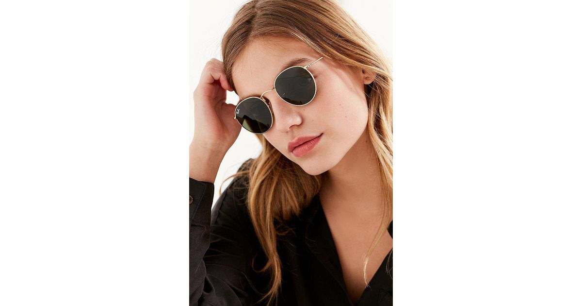 4f27efec724 Lyst - Ray-Ban Ray-ban Round Metal Classic Sunglasses in Metallic