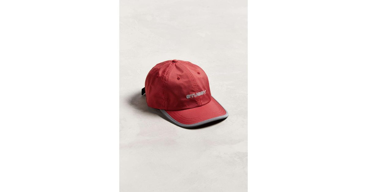 cfee62450fe Lyst - Stussy Contrast Ripstop Baseball Hat in Red for Men