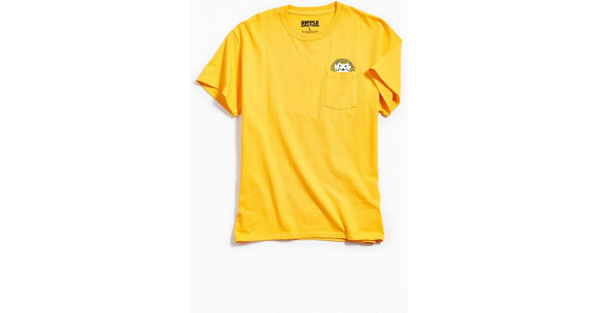 d3b2be0a Urban Outfitters Hedgehog Pocket Tee in Yellow for Men - Lyst