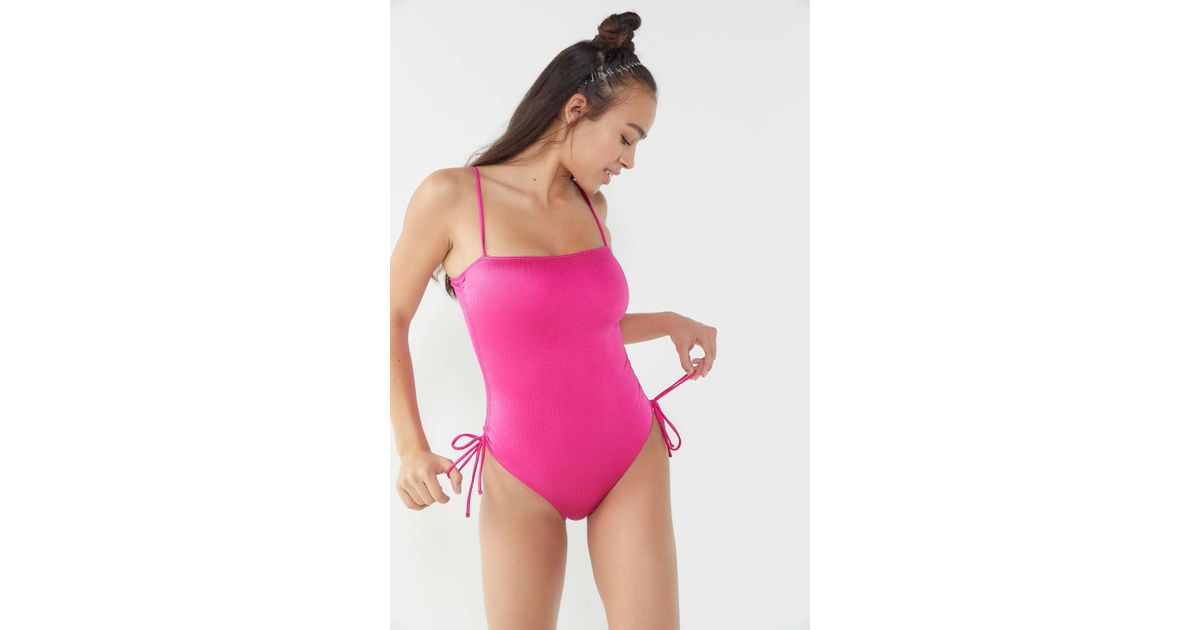 98ff98a91f496 Out From Under Ruched One-piece Swimsuit in Pink - Lyst
