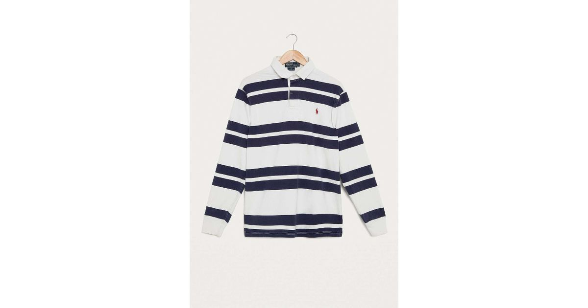 eaf8edec Navy Blue And White Striped Rugby Shirt - Rugs Ideas