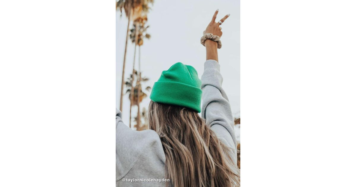 822a7dd94a1 Lyst - Urban Outfitters Jersey Knit Basic Ribbed Beanie in Green