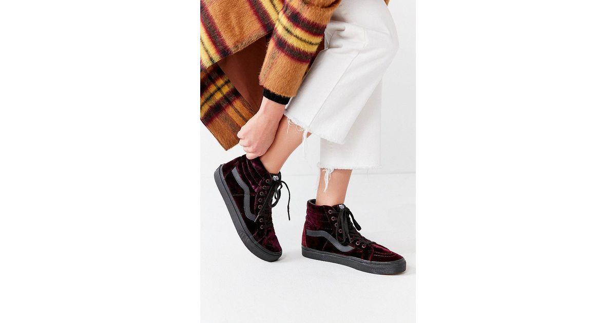 e2bab3b1dd Lyst - Vans Vans Velvet Sk8-hi Reissue Sneaker