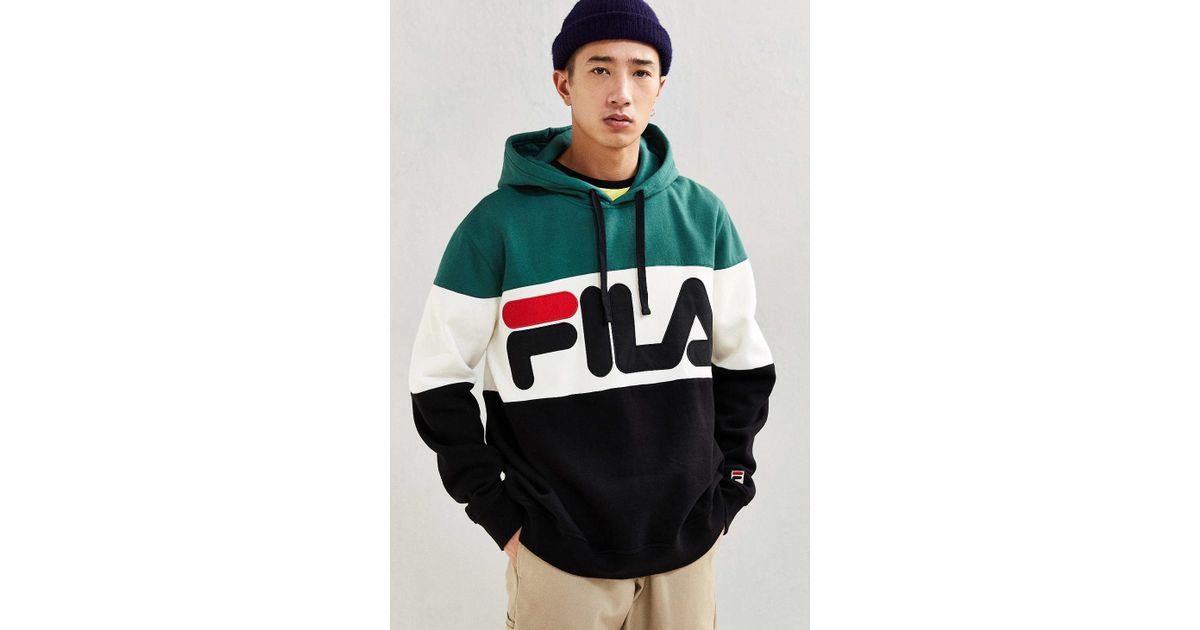 608693624f98 Lyst - Fila Colorblocked Hoodie Sweatshirt for Men
