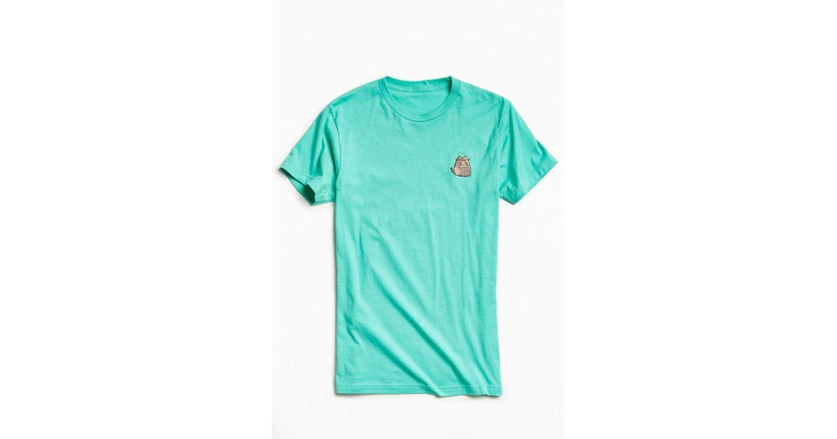 Urban outfitters embroidered pusheen the cat tee for men for Lucky cat shirt urban outfitters