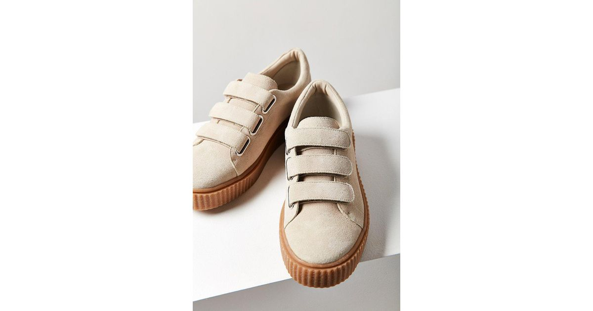 2c7add86ebba Lyst - Urban Outfitters Hollie Three-strap Creeper Sneaker
