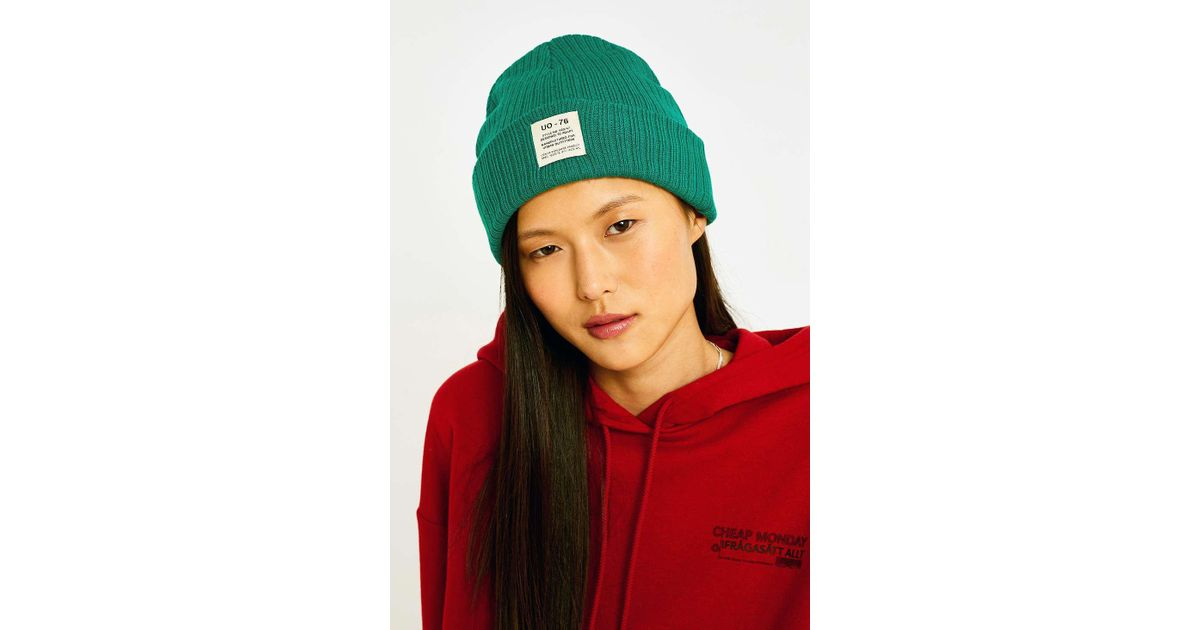 3bbf5d70f47 Urban Outfitters Uo Utility Beanie in Green - Lyst