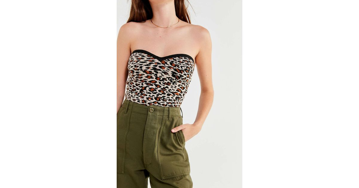 f5faae5820e Lyst - Urban Outfitters Uo Toni Cropped Sweater Tube Top