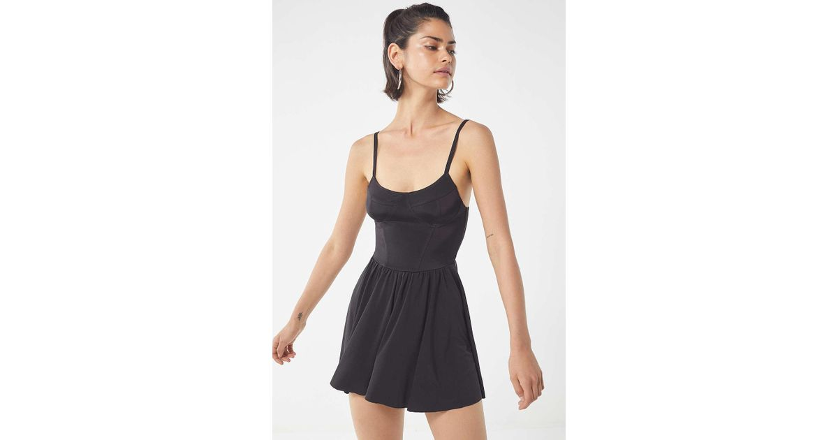 dd02e78d941 Lyst - Urban Outfitters Uo Brianna Slinky Romper in Black