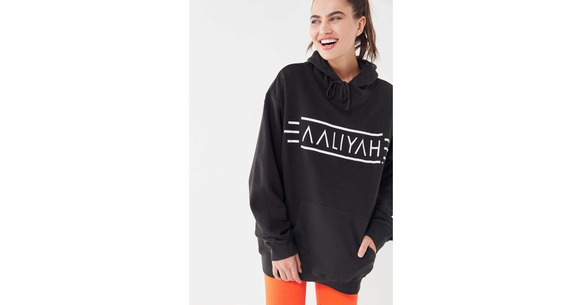 32046320798 Urban Outfitters Aaliyah Oversized Hoodie Sweatshirt in Black - Lyst