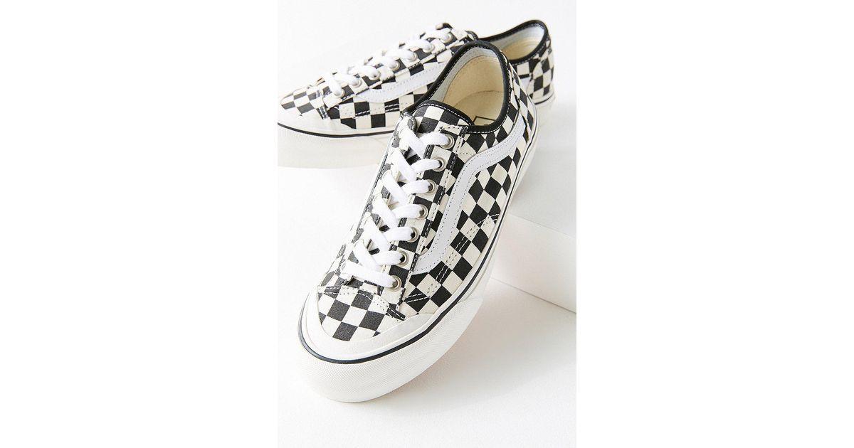 89ae4ee7a0 Lyst - Vans Vans Style 36 Decon Sf Checkerboard Sneaker in White