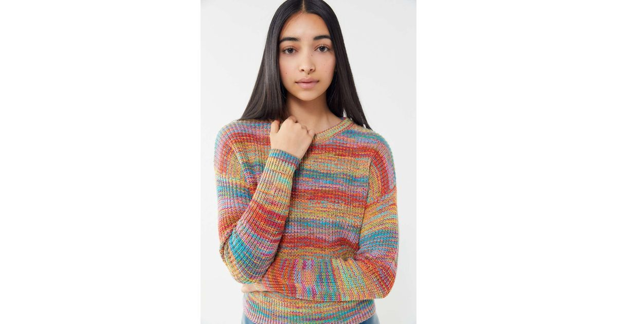 Lyst - Urban Outfitters Uo Andi Intarsia Knit Crew-neck Sweater in Red a43ae9f83
