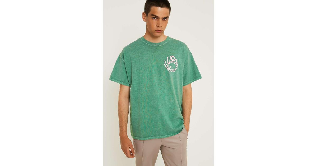 23171e3989 Urban Outfitters Uo Green & Pink Illusions T-shirt - Mens S in Green for  Men - Lyst