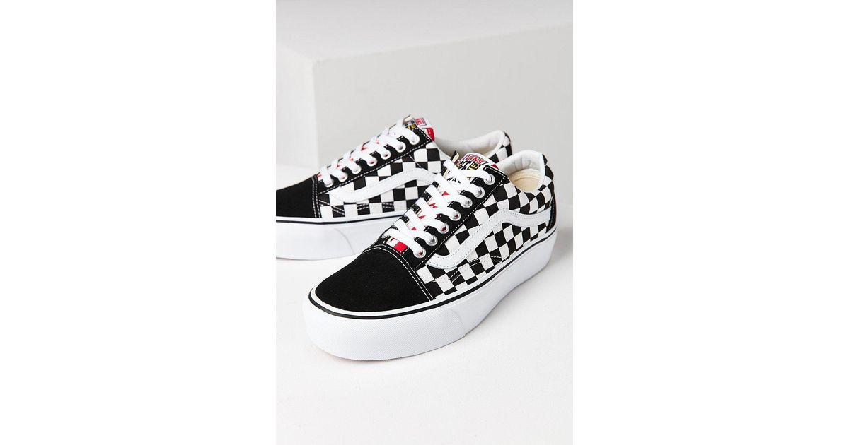 58048e2fd8bb7a Lyst - Vans Vans   Uo Old Skool Platform Sneaker in White