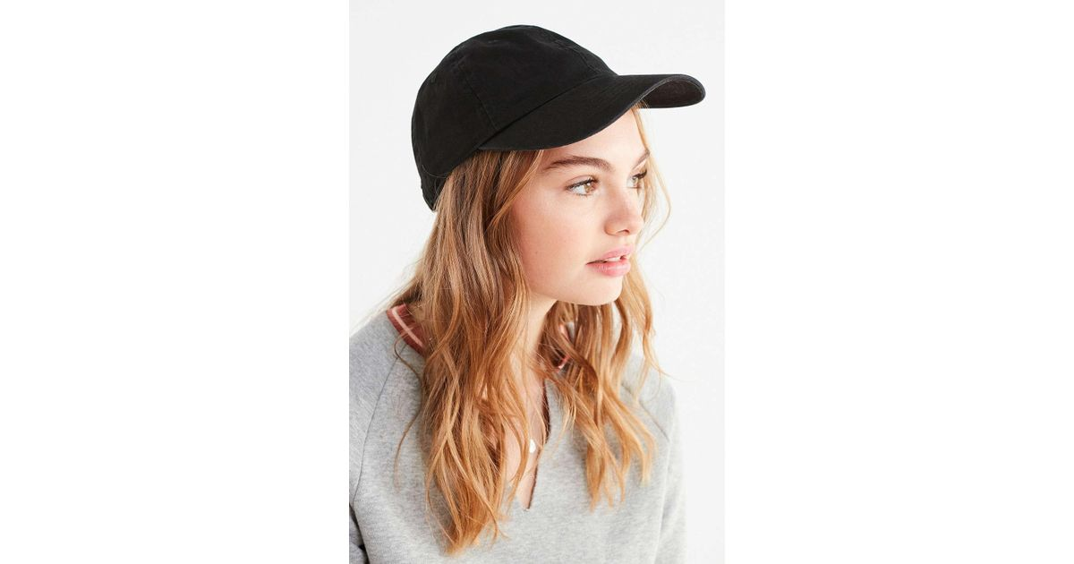 3f4665795cb Lyst - Urban Outfitters Washed Canvas Baseball Hat in Black
