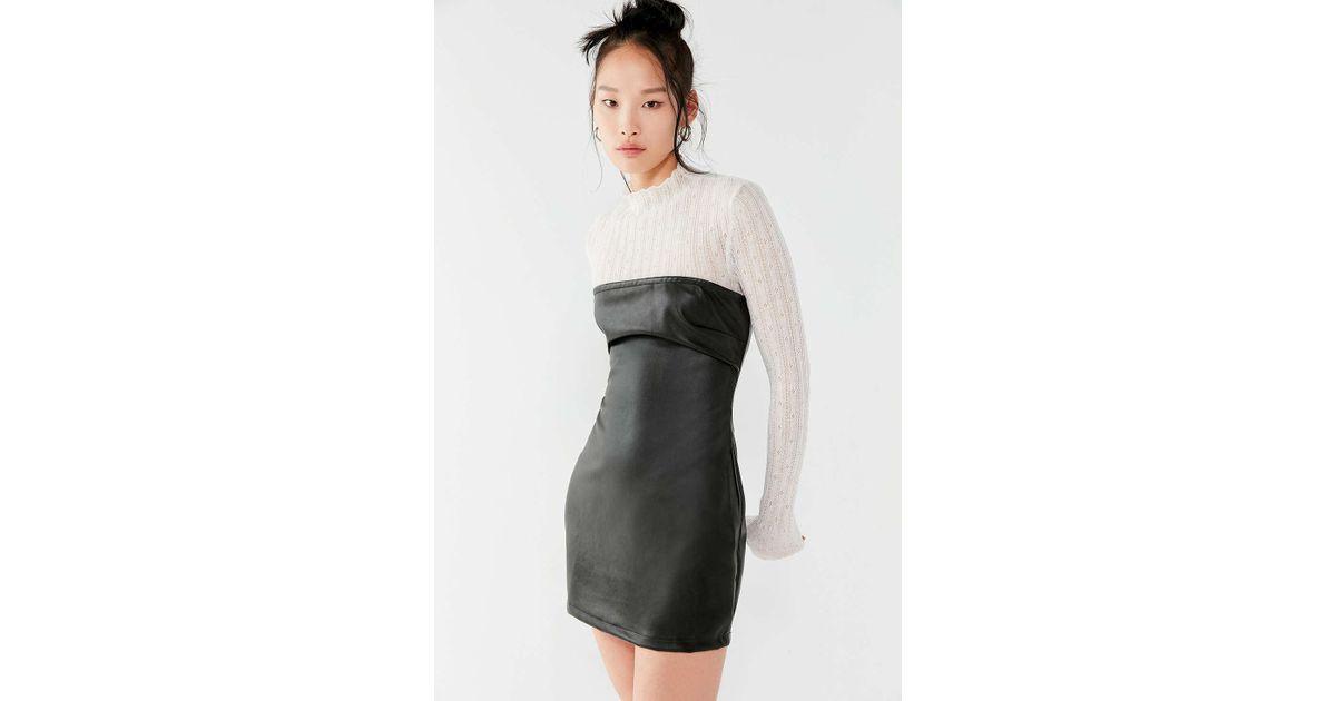 2e9add200e9 Lyst - Motel Brandy Faux-leather Tube Dress in Black