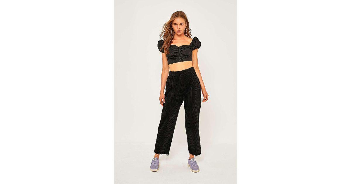 ec7e40ca69fd4 BDG Black Corduroy Cocoon Trousers - Womens S in Black - Lyst