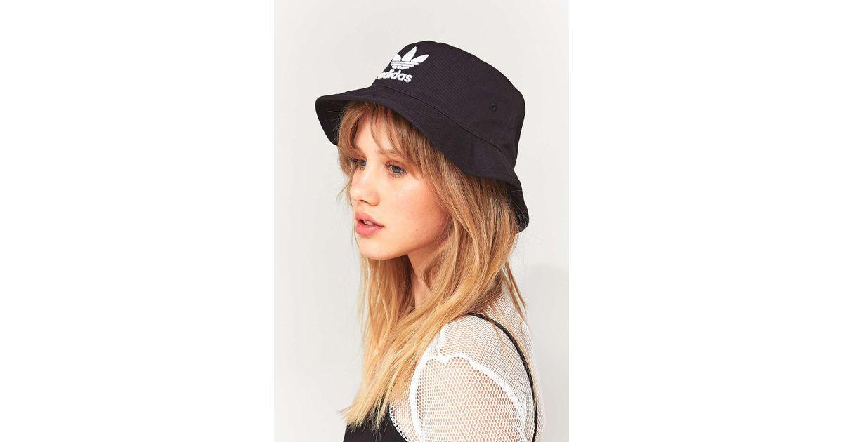 1d4ae774 adidas Originals Trefoil Bucket Hat - Womens All in Black - Lyst