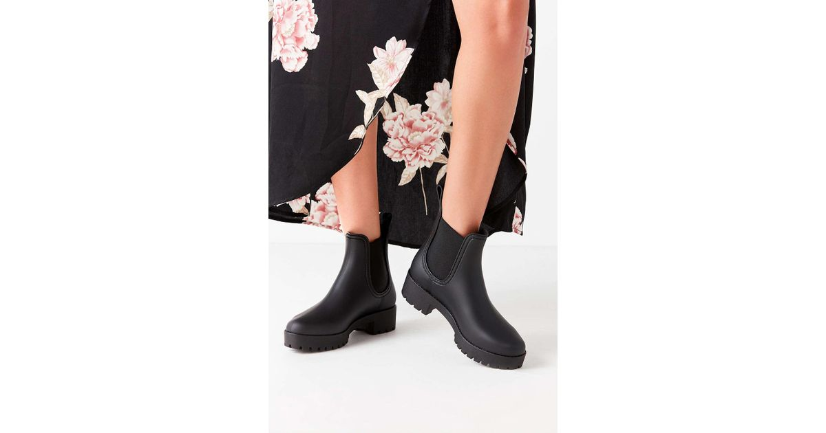 a2b5caae530 Lyst - Jeffrey Campbell Cloudy Rain Boot in Black
